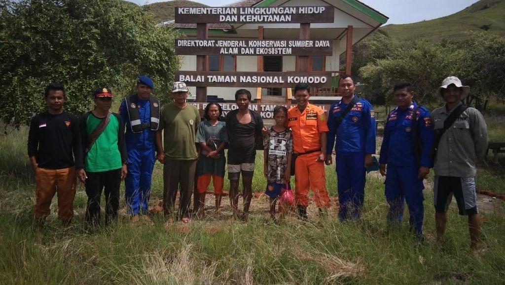 Hilang di Pantai Papa NTB, Nelayan Sekeluarga Ditemukan di Gili Lawa