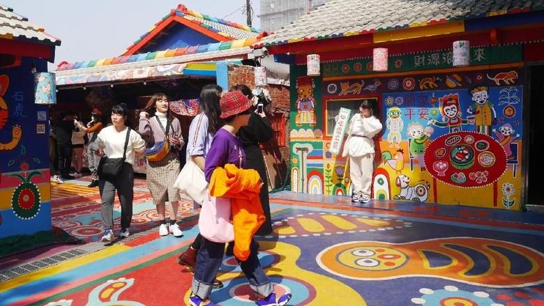 Rainbow Village di Taichung (Kurnia/detikcom)