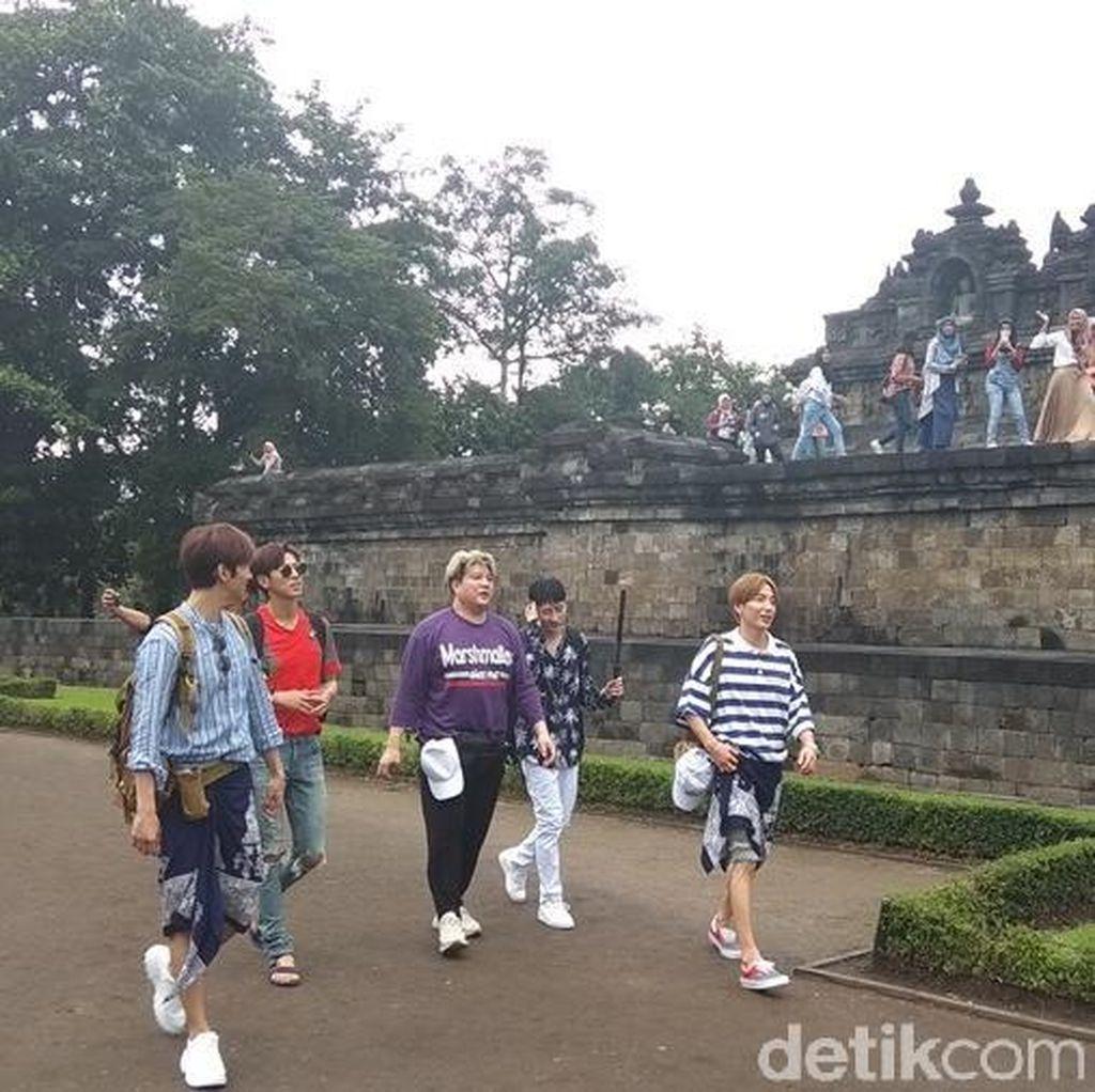 Ini Kemeriahan Super Junior saat Syuting di Candi Borobudur