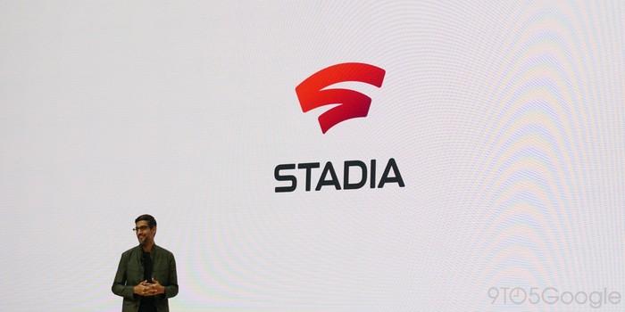 CEO Google Sundar Pichai saat memperkenalkan Google Stadia. Foto: 9to5mac