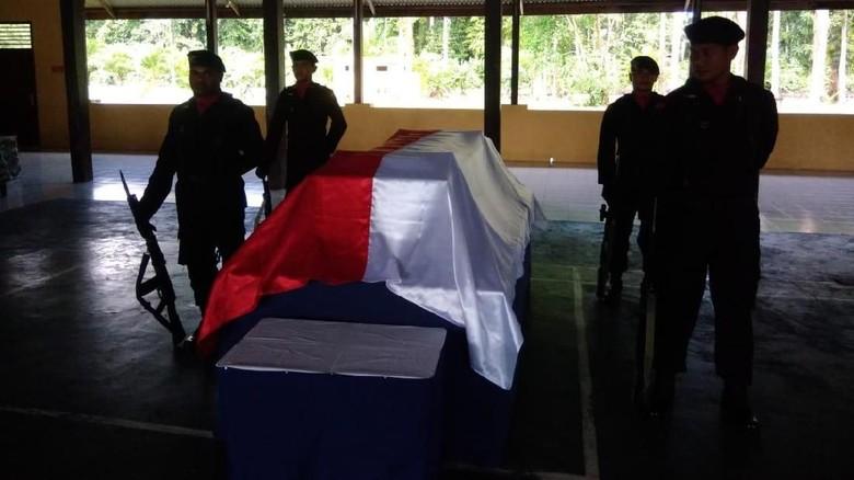 Jenazah Bharada Aldy yang Gugur Ditembak KKB Dibawa ke Nunukan