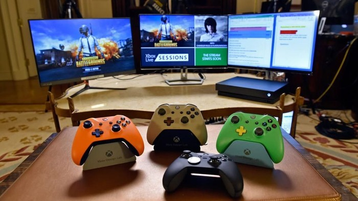 Xbox, konsol game andalan Microsoft yang bersiap menghadapi Google Stadia. (Foto: David Becker/Getty Images for Xbox Live)