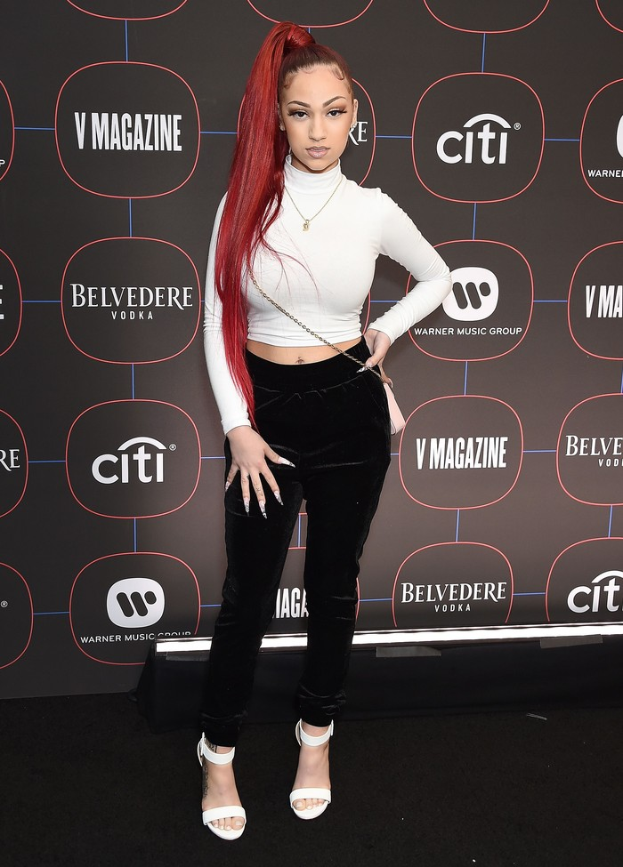 LOS ANGELES, CA - FEBRUARY 07:  Bhad Bhabie, Danielle Bregoli, arrives at the Warner Music Group Pre-Grammy Celebration at Nomad Hotel Los Angeles on February 7, 2019 in Los Angeles, California.  (Photo by Gregg DeGuire/Getty Images)