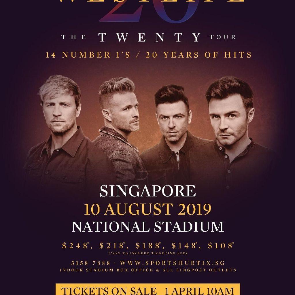 Westlife Umumkan Konser di Singapura, Ini Harga Tiketnya