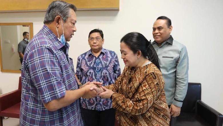 Dua Makna Puan Maharani Jenguk Ani Yudhoyono