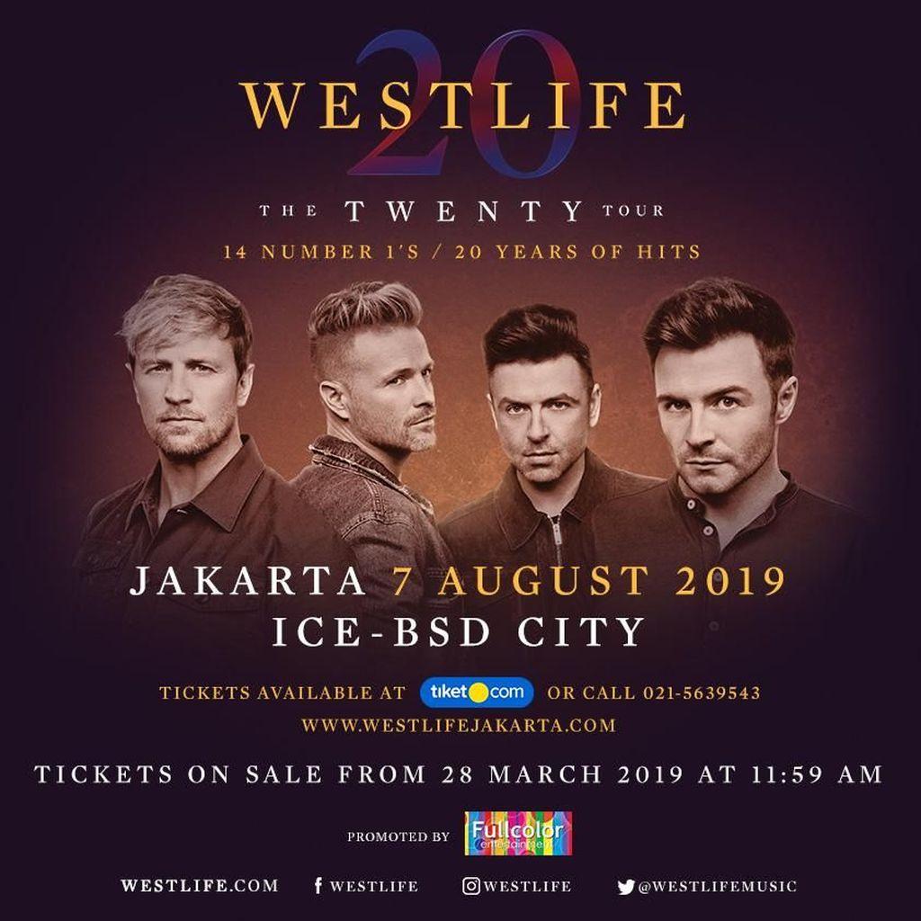 Pengumuman! Tiket Konser Westlife Dijual dalam 4 Kategori