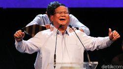 Canda Prabowo soal Utang karena Pemilu dan Senyum Kecut Sandiaga Uno