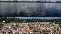 Before-After Banjir Bandang di Danau Sentani