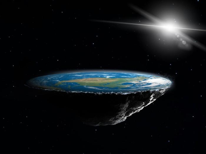 Ilustrasi Flat Earth