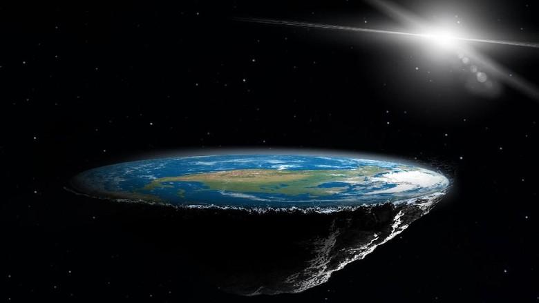 Foto: Ilustrasi Flat Earth (iStock)