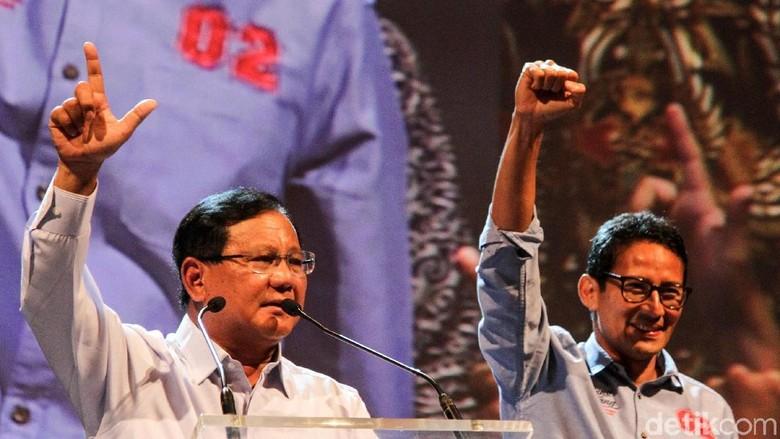 BPN Klaim Hasil Exit Poll: Prabowo 55,4%, Jokowi 42,8%