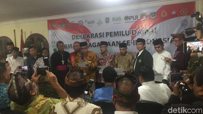 Dihadiri Said Aqil, Ormas Keagamaan Deklarasi Pemilu Damai