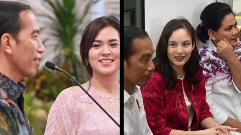 Dulu Raisa Kini Chelsea Islan, Menatap Penuh Makna ke Jokowi