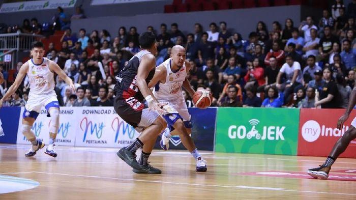 Final Indonesian Basketball League (IBL) antara Satria Muda dan Stapac