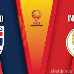 Babak I Thailand Vs Indonesia: Garuda Muda Sementara Tertinggal 0-1