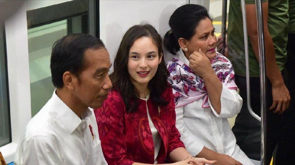 Ada Chelsea Islan di Antara Jokowi dan Iriana