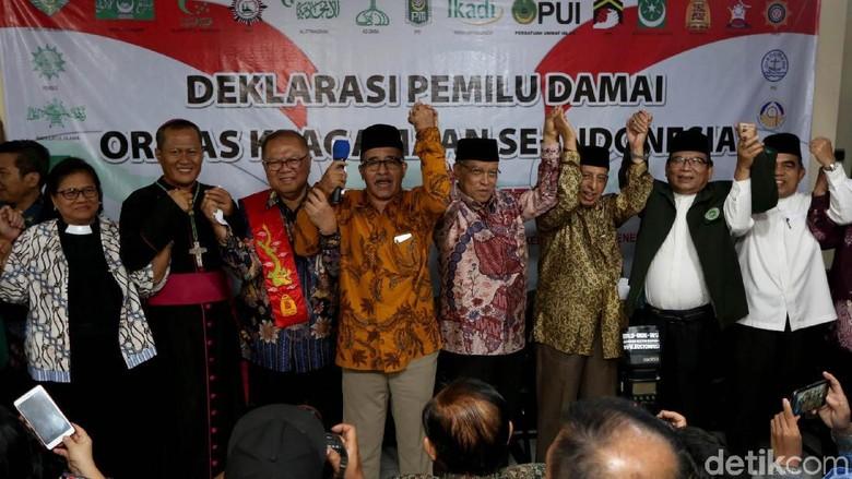 Ormas Keagamaan Deklarasikan Pemilu Damai