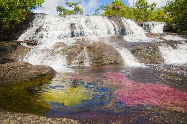 Ada warna kuning, hitam, merah, hijau dan biru yang menghiasi aliran sungai. (iStock)