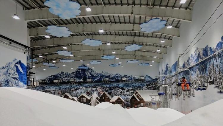 Keseruan Wisata Salju di Trans Snow World Bekasi