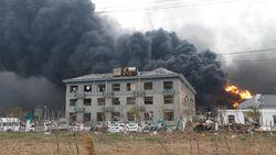 VIdeo Ledakan Pabrik Gas di China, 10 Orang Tewas