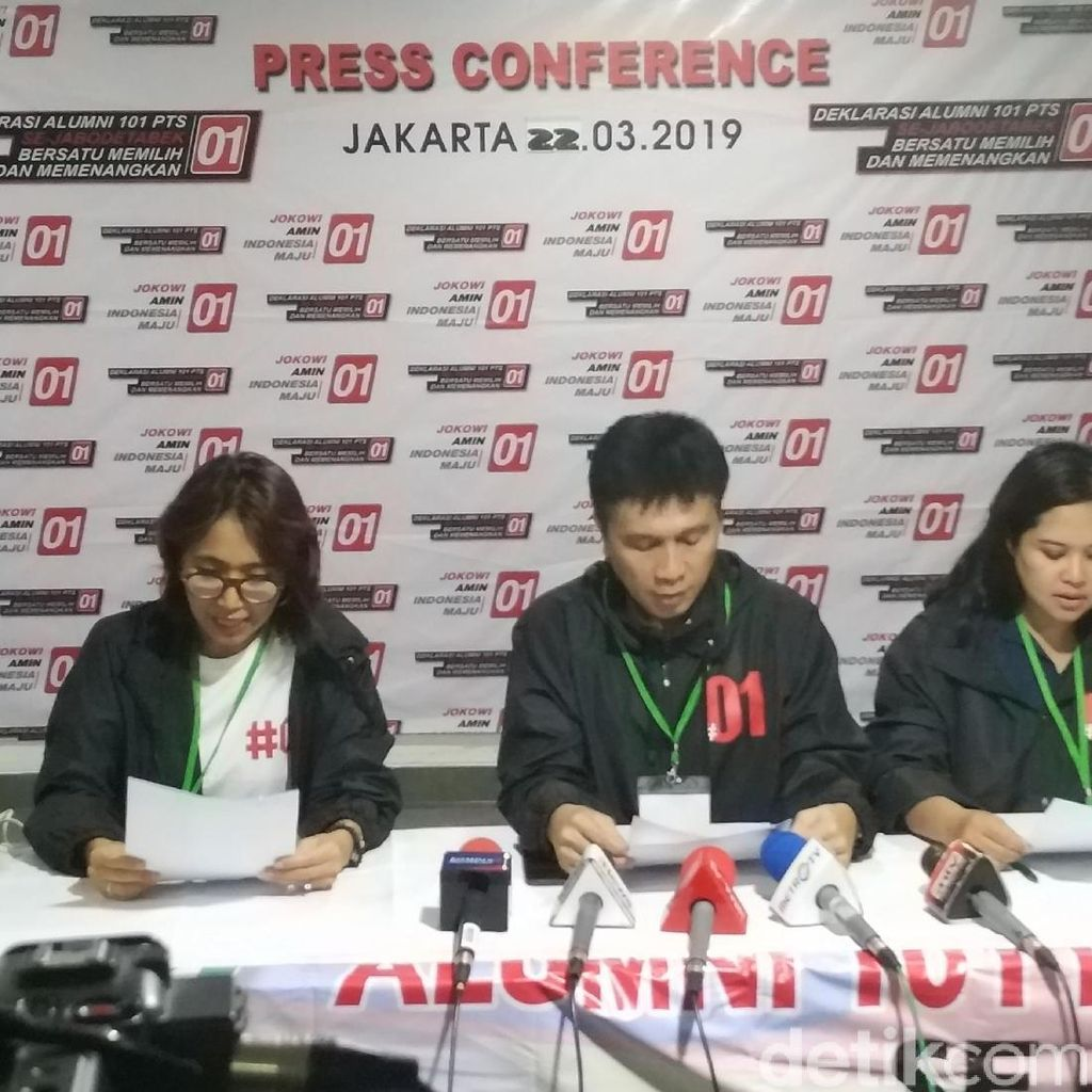Alumni 101 PTS Se-Jabodetabek Deklarasikan Dukung Jokowi-Maruf