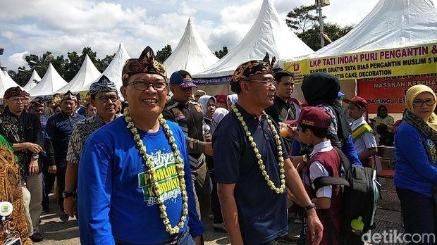 Mendikbud  Muhadjir Effendy dan Wali Kota Bandung Oded M Danial