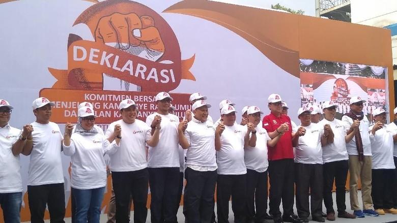 TKN-BPN Hadiri Deklarasi Jelang Kampanye Terbuka di Bawaslu