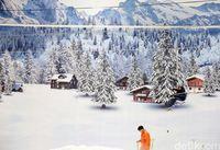 Suasana di salah satu sisi Trans Snow World
