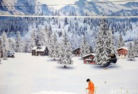 Wahana baru ini ada di area Trans Park Juanda. Di atas lahan yang luas, traveler dapat menikmati salju layaknya di Eropa (Rachman/detikcom)