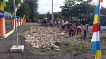 Warga Desa Samas Bantul Antusias Ikuti Padat Karya Kemenhub