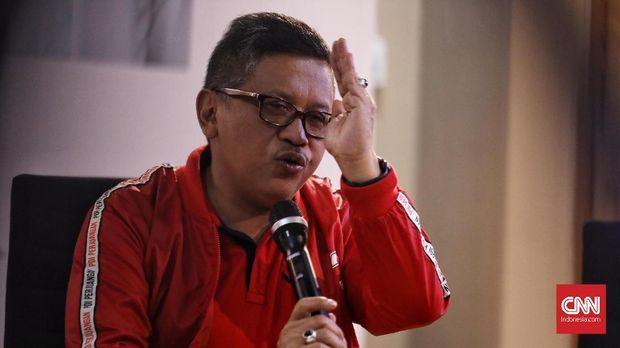 Sekretaris TKN sekaligus Sekjen PDIP Hasto Kristiyanto.