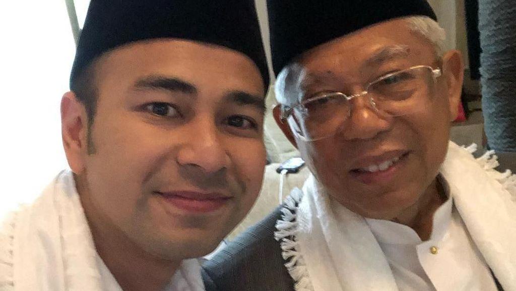 Kompak Pakai Peci Hitam, Raffi Ahmad Dinasihati Maruf Amin