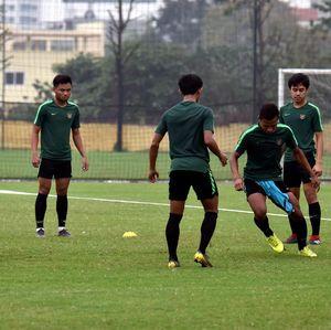 Timnas Indonesia U-23 Berlatih Ringan Jelang Lawan Vietnam