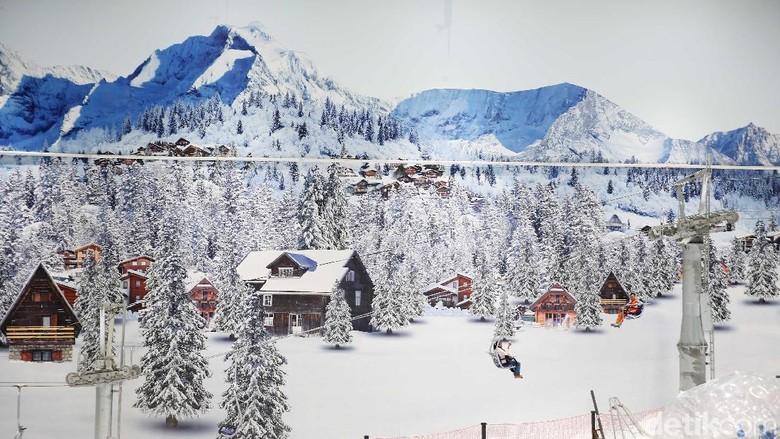 Foto: Suasana Trans Snow World Bekasi (Rachman Haryanto/detikfoto)