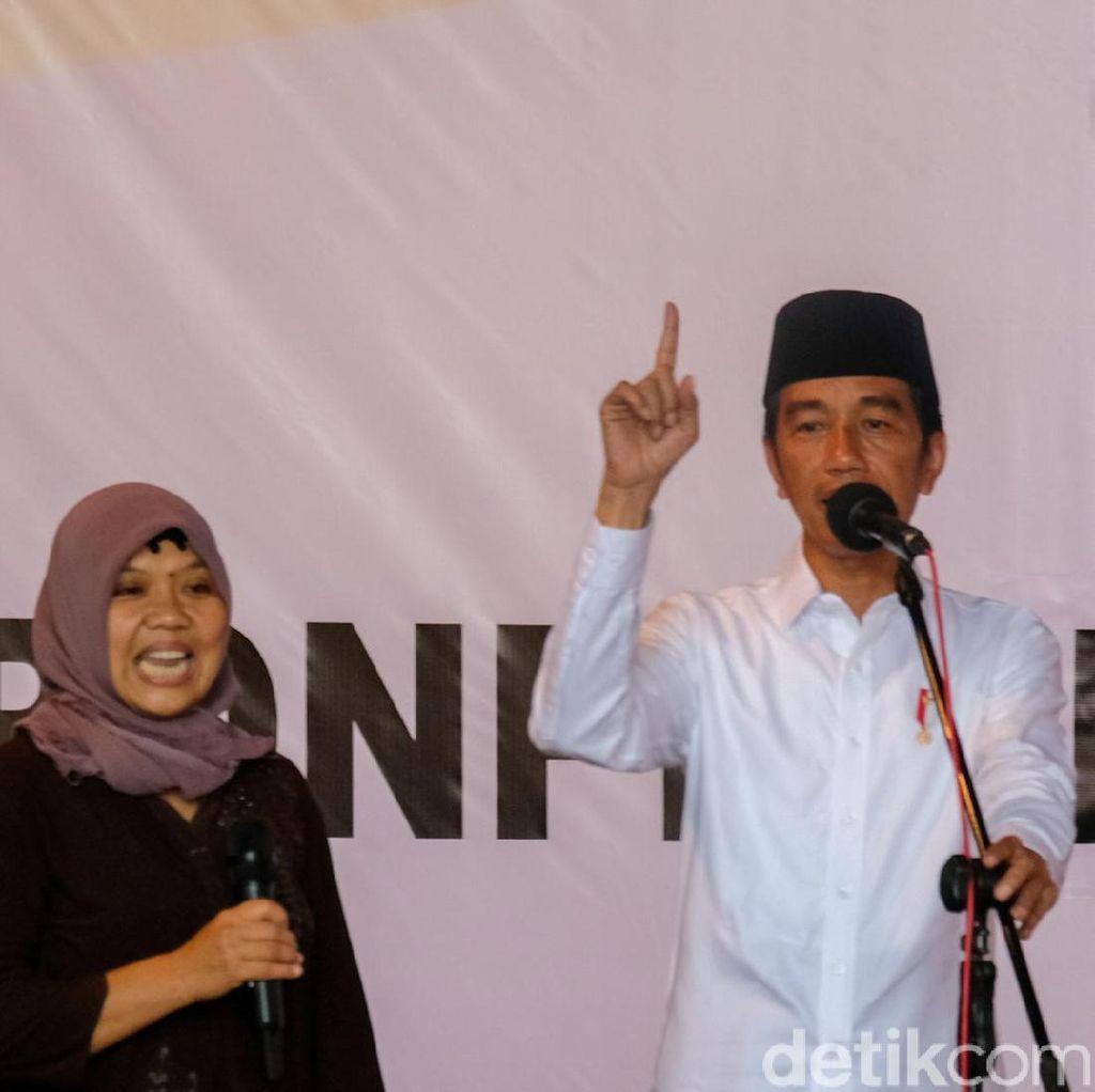Bertemu di Ponpes, Ibu Ini Keceplosan Panggil Jokowi Pak Kiai