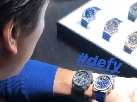 Reino Barack memakai jam tangan Zenith.