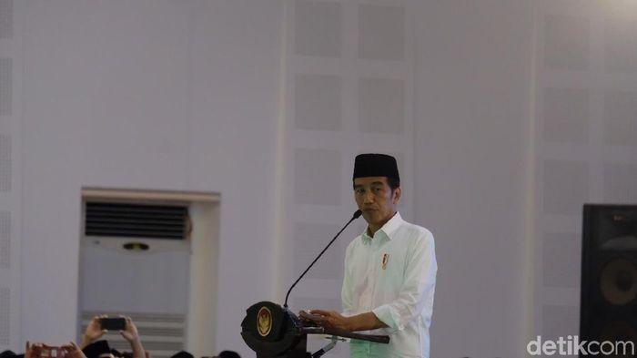 Foto: Jokowi di Magelang. (Andhika-detikcom)