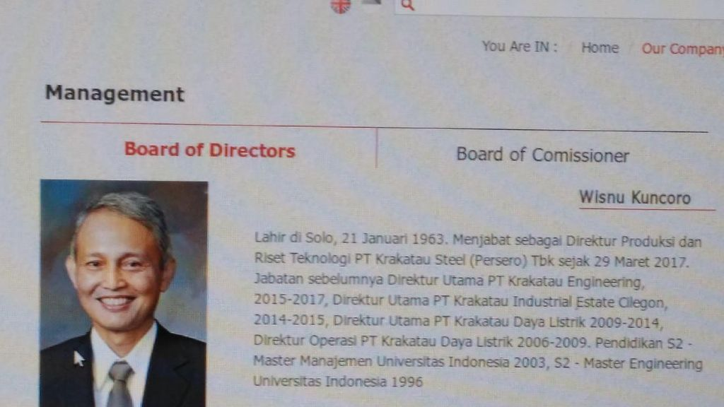 Dirut Krakatau Steel Cek Proyek yang Bikin Direkturnya Kena OTT KPK