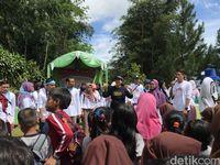 Ketua CT Arsa Foundation, Anita Ratnasari Tanjung di lokasi acara