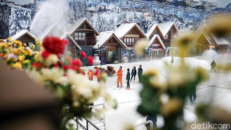 Suasana musim salju di Trans Snow World (Rachman Haryanto/detikcom)