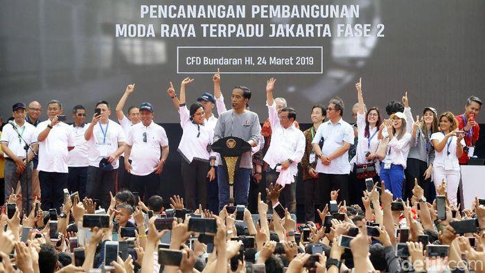 Presiden Jokowi luncurkan proyek MRT Fase II/Foto: Grandyos Zafna