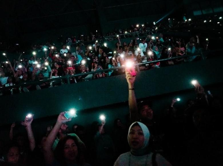 Penonton konser musik. Foto: Hanif Hawari