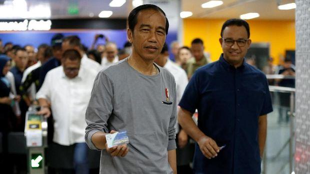 Ada MRT Jakarta, Jokowi: Warga Bisa Tinggalkan Mobil Pribadi