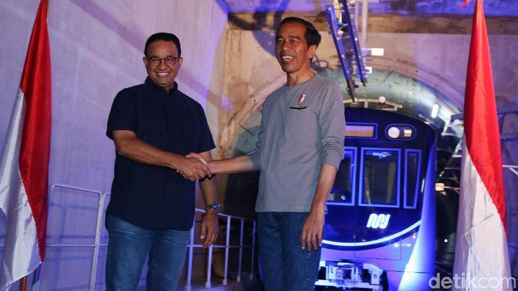 Didampingi Anies, Jokowi Resmikan MRT Jakarta
