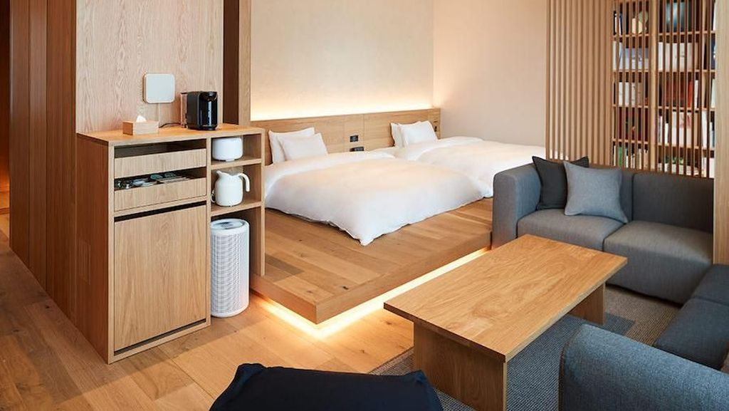 Foto: Inspirasi Kamar Mungil Tapi Bikin Betah ala Hotel Muji Tokyo
