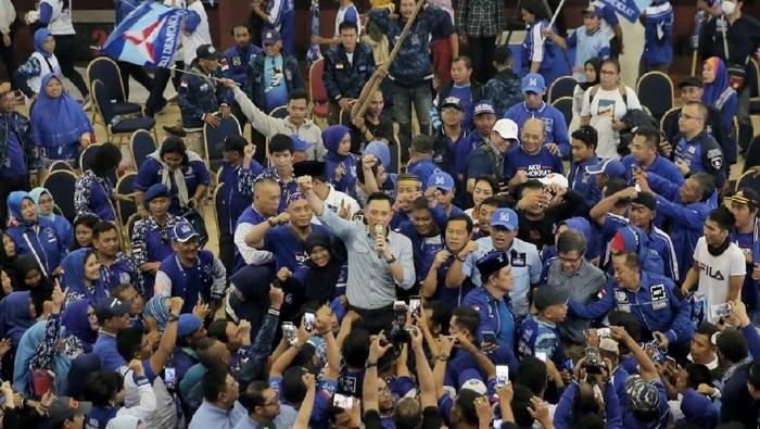 AHY saat kampanye di Ciracas, Jakarta Timur. (Dok Partai Demokrat)