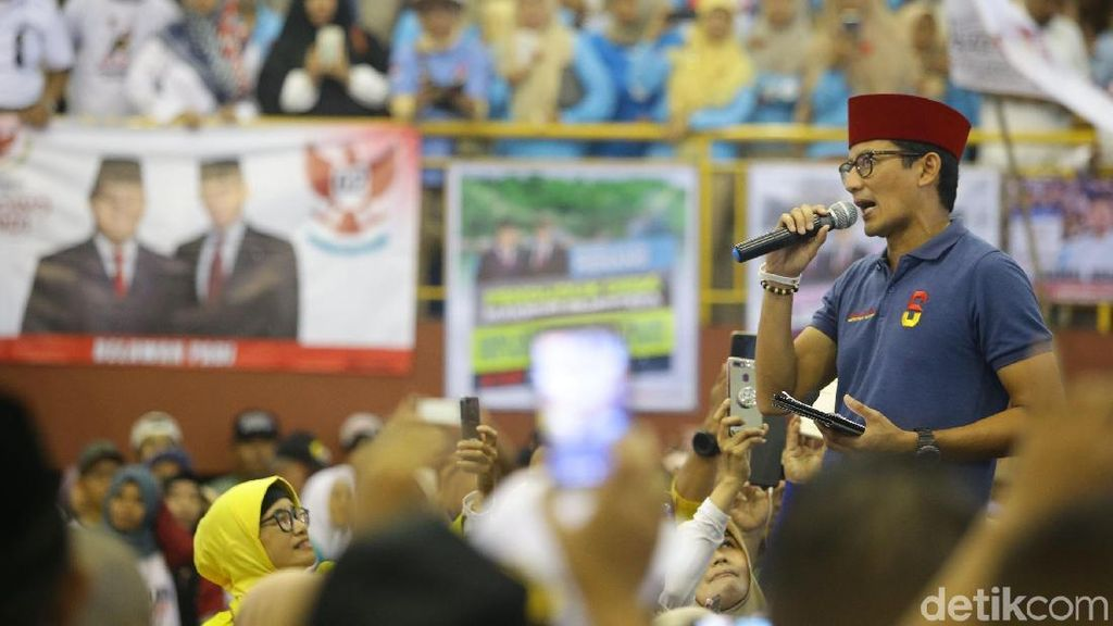 Tanggapi Survei Charta, Sandiaga: Acuan Kami Survei Internal