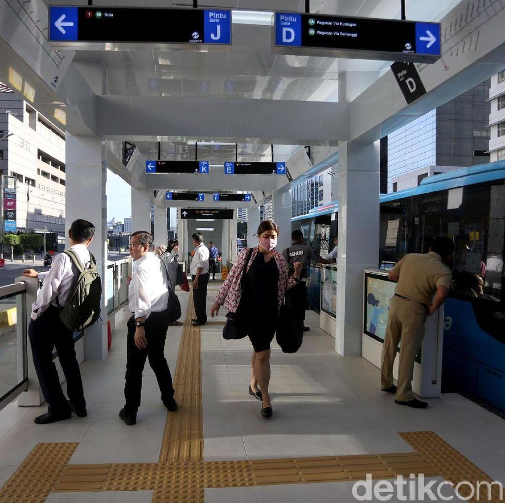 Asyik, Kini Halte Bundaran HI Terintegrasi dengan MRT