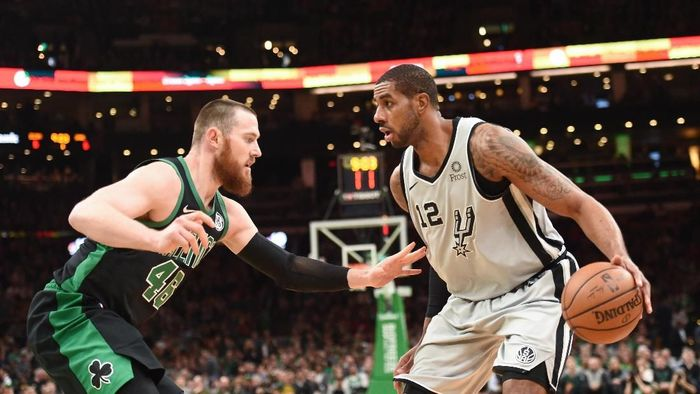 San Antonio Spurs kalahkan Boston Celtics (Bob DeChiara-USA TODAY Sports)