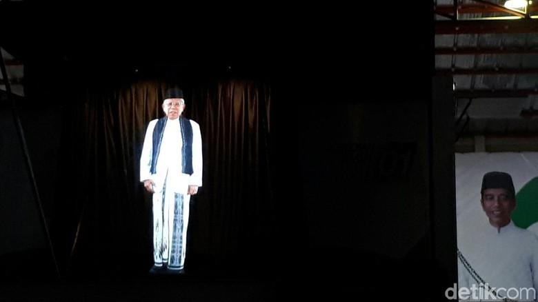 Launching Kampanye Hologram, Maruf Amin: Ini Buatan Anak Bangsa